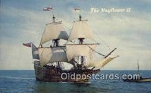 shi020668 - The Mayflower II, Plymouth, Massachusetts, MA USA Sail Boat Postcard Post Card