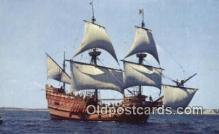 shi020676 - The Mayflower II, Plymouth, Massachusetts, MA USA Sail Boat Postcard Post Card