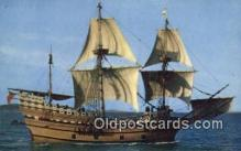 shi020684 - The Mayflower II, Plymouth, Massachusetts, MA USA Sail Boat Postcard Post Card