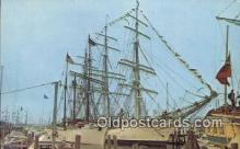 shi020689 - Operation Sail, Newport, Rhode Island, RI USA Sail Boat Postcard Post Card
