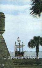 shi020710 - The Santa Maria, St Petersburg, Florida, FL USA Sail Boat Postcard Post Card