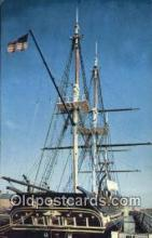 shi020714 - USS Constitution, Old Ironsides, Boston, Massachusetts, MA USA Sail Boat Postcard Post Card