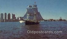 shi020734 - The Boston Tea Party Ship, Brig Beaver II, Boston, Massachusetts, MA USA Sail Boat Postcard Post Card