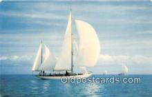 shi020753 - Smooth Sailing Color Photo by H W Hannau Ship Postcard Post Card