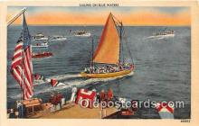shi020754 - Sailing on Blue Waters  Ship Postcard Post Card