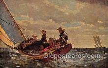 shi020769 - Breezing Up By Winslow Homer 1836-1910 Ship Postcard Post Card
