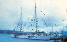 shi020781 - SV Windjammer Built in 1922, Owned by John Ford Ship Postcard Post Card