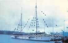 shi020782 - SV Windjammer Built in 1922, Owned by John Ford Ship Postcard Post Card