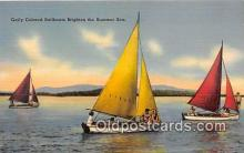 shi020786 - Gaily Colored Sailboats  Ship Postcard Post Card