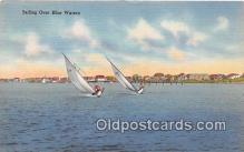 shi020788 - Sailing Over Blue Waters  Ship Postcard Post Card