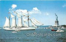 shi020790 - Operation Sail July 4, 1976 Esmeralda, New York Harbor Ship Postcard Post Card