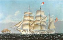 shi020791 - Whaleship Wanderer, 1878 Mattapoisett, Massachusetts USA Ship Postcard Post Card
