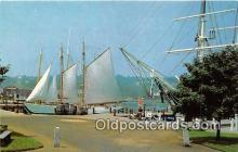 shi020798 - Mystic Seaport Mystic, Connecticut USA Ship Postcard Post Card