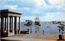 shi020799 - Mayflower II Plymouth Harbor, Pilgrims 1620 Ship Postcard Post Card