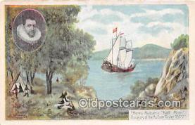 shi020802 - Henry Hudson's Half Moon Hudson River 1600 Ship Postcard Post Card