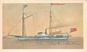 shi020813 - Ontario Build in Sackets Harbor, NY 1817 Ship Postcard Post Card