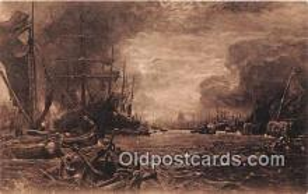 shi020815 - Pool of London George Vicat Cole, RA Ship Postcard Post Card