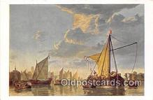 shi020817 - Maas at Dordrecht By Cuyp 1620-1691 Ship Postcard Post Card