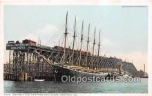 shi020820 - Norfolk & Western Coal Piers Norfolk, VA USA Ship Postcard Post Card