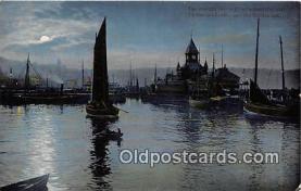 shi020822 - Moonlit, Tired Sailors  Ship Postcard Post Card