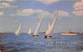 shi020825 - Sails Filled John Milton Ship Postcard Post Card