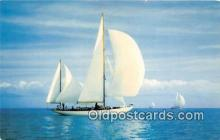 shi020826 - Smooth Sailing Color Photo by H W Hannau Ship Postcard Post Card