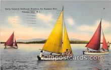 shi020828 - Gaily Colored Sailboats Atlantic City, NJ USA Ship Postcard Post Card