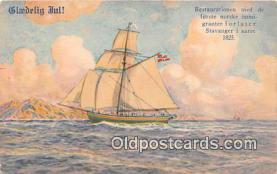 shi020834 - Glaedelig Ful  Ship Postcard Post Card