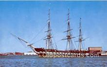 shi020837 - USF Constitution Old Ironsides Boston, Massachusetts USA Ship Postcard Post Card