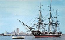 shi020839 - USS Constitution Old Ironsides Boston, Massachusetts USA Ship Postcard Post Card