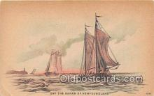 shi020844 - Off the Banks of Newfoundland  Ship Postcard Post Card