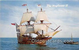 shi020851 - Mayflower II Plymouth, Mass USA Ship Postcard Post Card