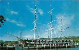shi020852 - Mystic Seaport Mystic, Connecticut USA Ship Postcard Post Card