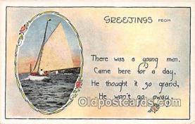 shi020859 - Greetings  Ship Postcard Post Card