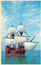 shi020886 - Mayflower II Pilgrims 1620, Plymouth, Massachusetts USA Ship Postcard Post Card