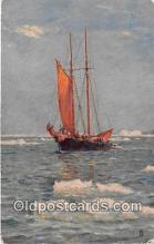 shi020888 - Down North Tucks Backing.  Labrador Ship Postcard Post Card