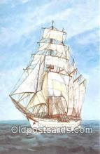 shi020891 - Juan Sebastian de Elcano Spain 304 Four Masted Topsail Schooner Training Ship Ship Postcard Post Card