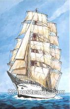 shi020895 - Gloria Columbia 212 Three Masted Bark Training Ship Ship Postcard Post Card