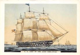 shi020899 - US Ship of the Line Ohio  Ship Postcard Post Card