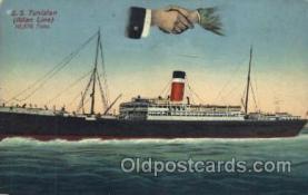 shi022003 - S.S. Tunisian Allan Line, Liner Ship Ships Postcard Postcards