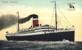shi022006 - R.M.S. Victorian Allan Line, Liner Ship Ships Postcard Postcards