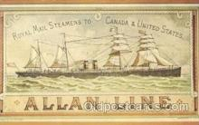 shi022008 - Reproduction -The Buenos Ayrean Allan Line, Liner Ship Ships Postcard Postcards