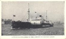 shi023011 - A Typical Steamer, American Export Line, Lines Ship Ships Postcard Postcards
