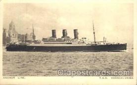 shi024005 - S.S. Transylvania Anchor - Donaldson Line, Lines Ship Ships Postcard Postcards