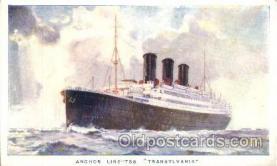 shi024006 - S.S. Transylvania Anchor - Donaldson Line, Lines Ship Ships Postcard Postcards