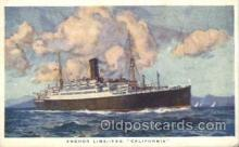 shi024008 - T.S.S. California Anchor - Donaldson Line, Lines Ship Ships Postcard Postcards