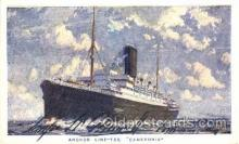 shi024010 - T.S.S. Cameronia Anchor - Donaldson Line, Lines Ship Ships Postcard Postcards