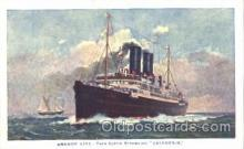 shi024011 - T.S.S. Caledonia Anchor - Donaldson Line, Lines Ship Ships Postcard Postcards