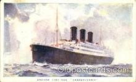 shi024012 - T.S.S. Transylvania Anchor - Donaldson Line, Lines Ship Ships Postcard Postcards
