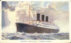 shi024013 - T.S.S. Transylvania Anchor - Donaldson Line, Lines Ship Ships Postcard Postcards